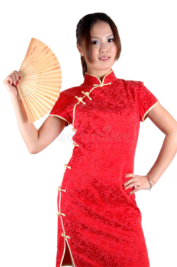 Free Asian Girl With Fan Stock Images - 16665624