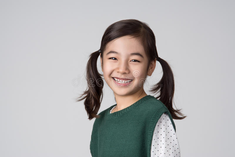 Asian girls studio shot royalty free stock photography