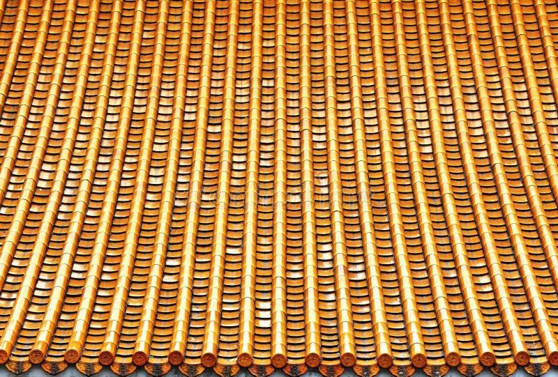 Asian glaze tileed roof royalty free stock photos