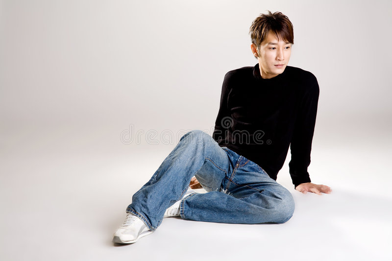 Download Asian guy in casual wear stock photo. Image of male, ethnic - 7055148
