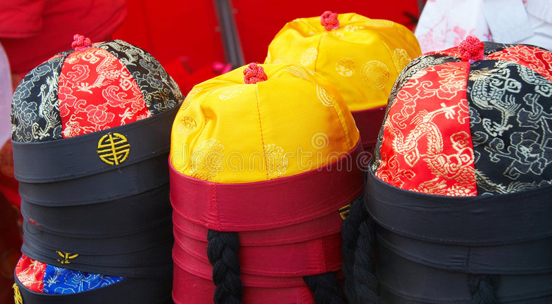 Asian hat for sale royalty free stock photos