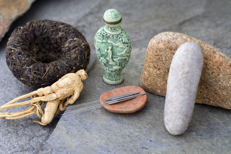 Asian Health Ginseng And Acupuncture  stock photos