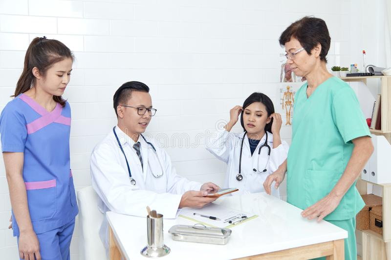 Asian Healthcare group professional stock images