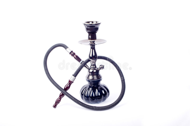 Asian hookah. Over white background stock photo