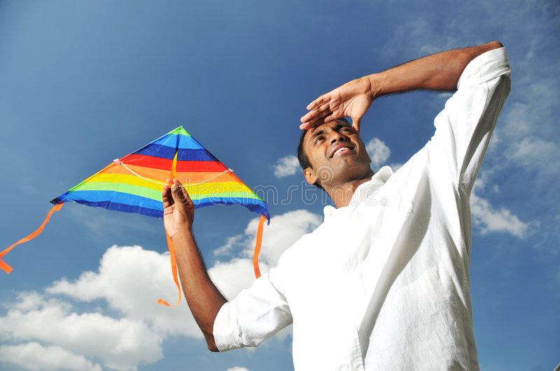 Asian Indian Man With A Vision Stock Photo
