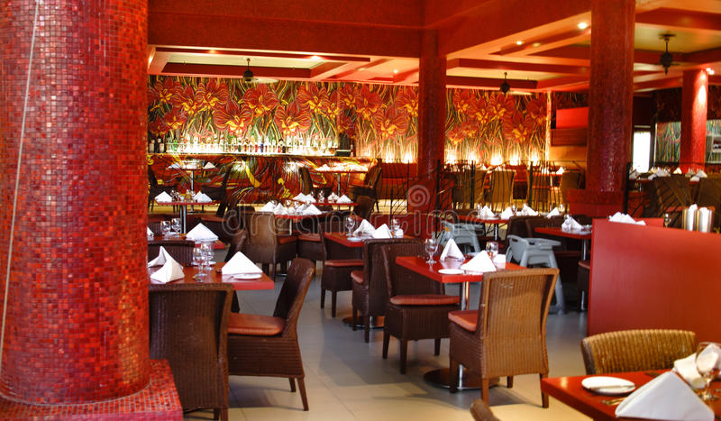 Asian inspired dining - Sheraton Fiji royalty free stock images
