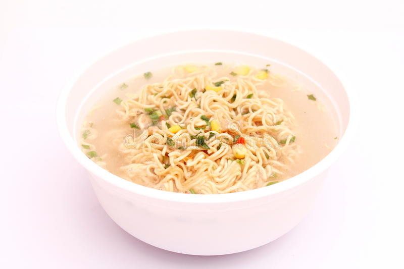 Asian instant soup royalty free stock photo