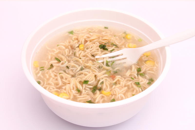 Asian Instant Soup Stock Photo