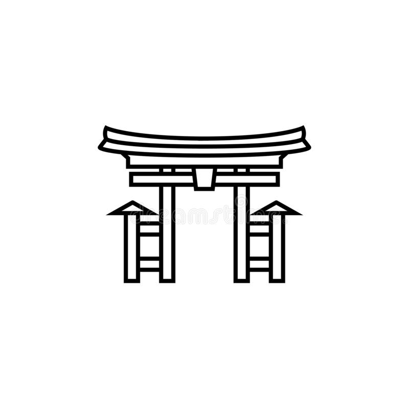 Asian Japan Pagoda Tower vector icon isolated illustration. vector illustration