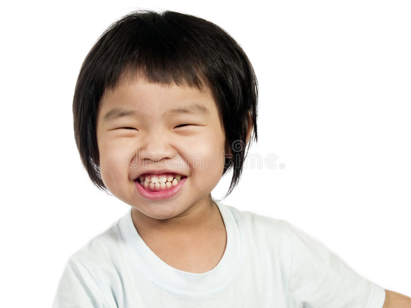 Asian Kid-1. An Asian or Chinese kid with white background stock images