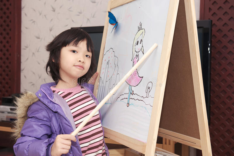 Download Asian Kid Acting As Teacher Stock Photo - Image: 17503068