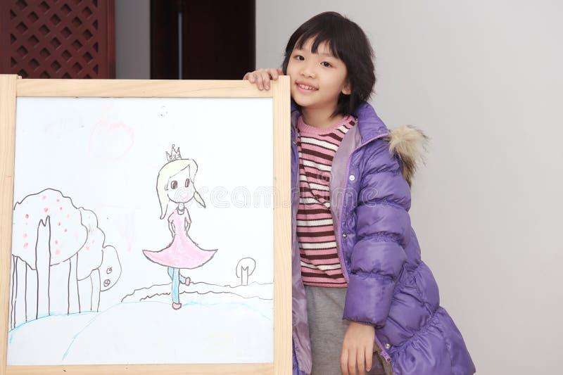 Asian kid drawing