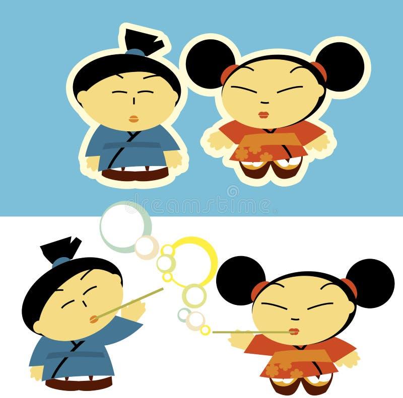 Download Asian kids stock vector. Image of illustration, girl - 23321193