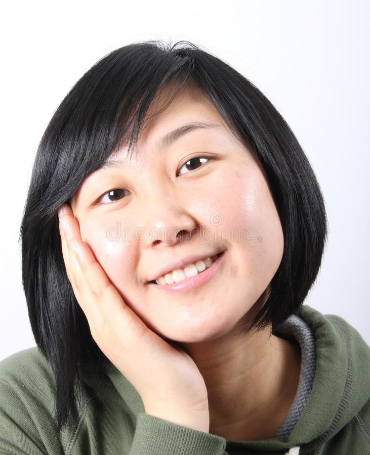 Asian lady stock image. Image of cheerful, happiness ...
