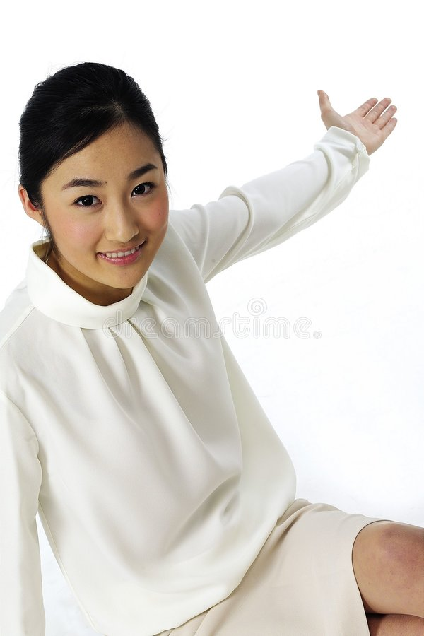 Asian Lady stock image