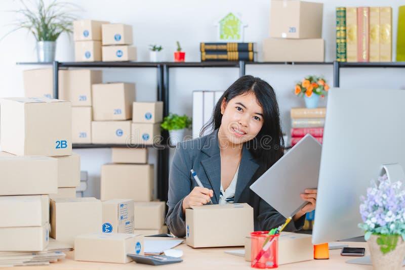 Asian lady on white background royalty free stock image