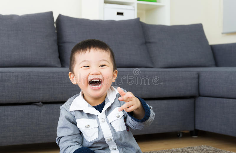 Asian little boy laughing royalty free stock images