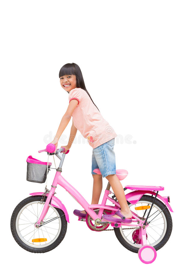 Download Asian Little Girl On Bicycle Stock Photo - Image: 26025836