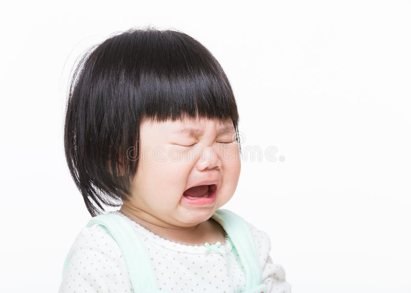 Asian little girl crying royalty free stock image