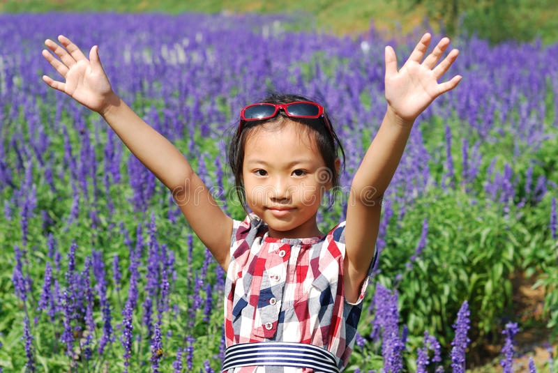 Download Asian Little Girl  In Summer Garden Royalty Free Stock Photos - Image: 26871478