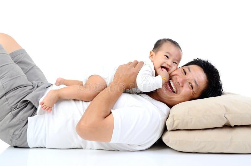Asian lovely family stock photography