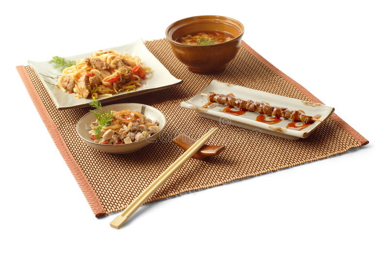 Asian lunch 2 royalty free stock images