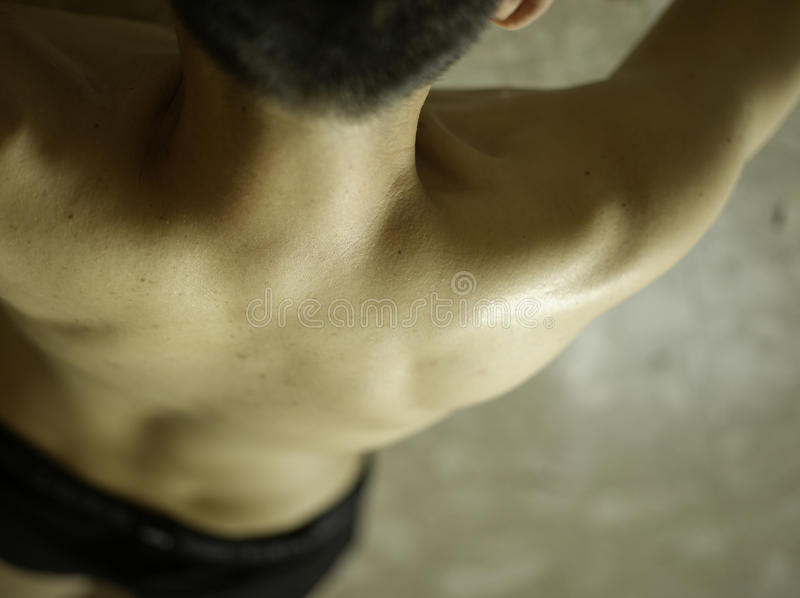 Asian Male back royalty free stock photography