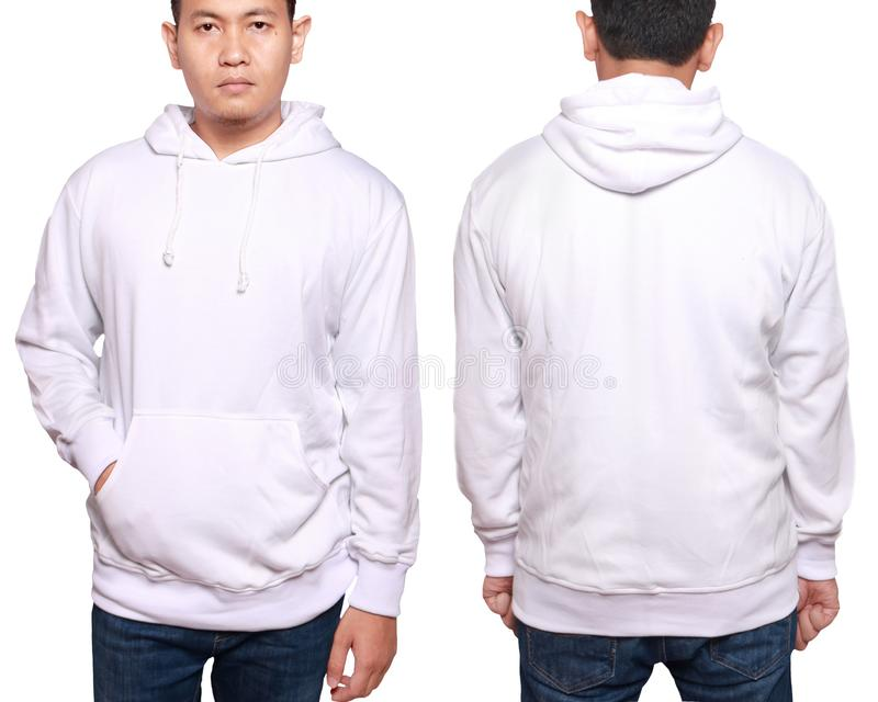 Asian male model wear plain white long sleeved sweater sweatshirt mockup royalty free stock photo