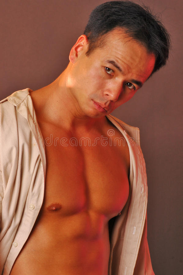 Download Asian male portrait stock image. Image of shadow, buff - 10193099