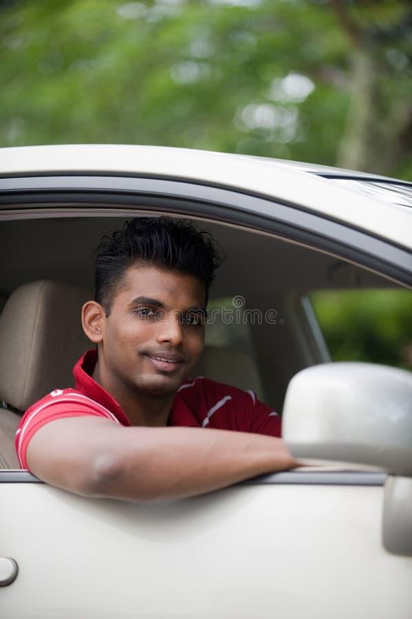 Asian Man In Car Royalty Free Stock Photo