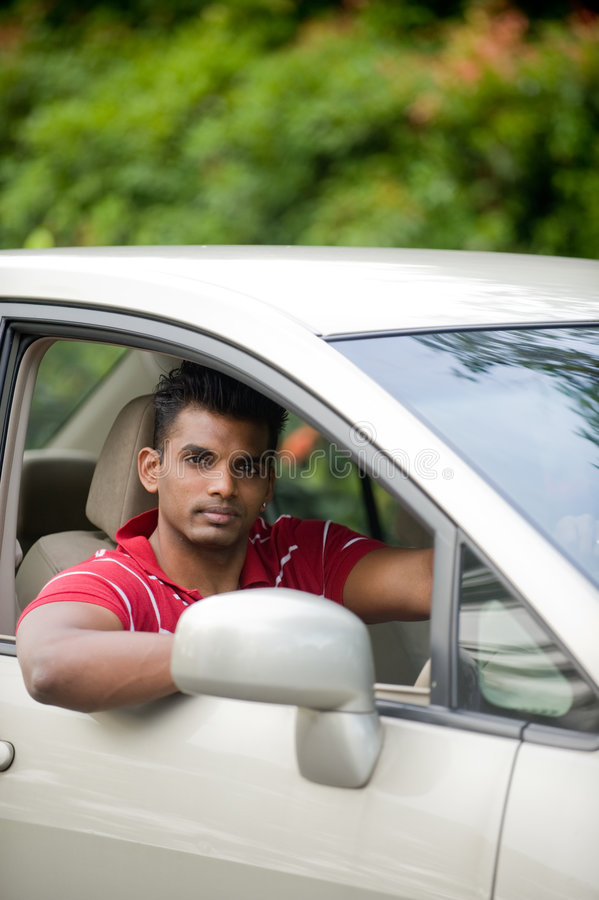 Download Asian Man In Car stock photo. Image of trees, looking - 3879866