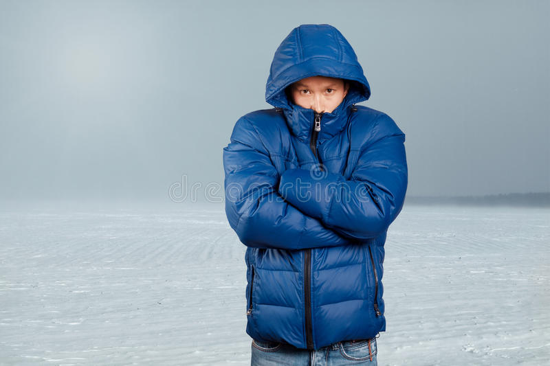 Download Asian Man In Down Padded Coat Stock Image - Image: 34948289