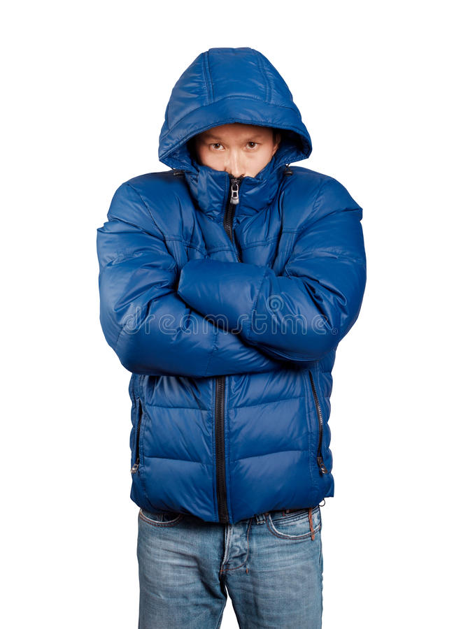 Download Asian Man In Down Padded Coat Stock Photo - Image: 36495484