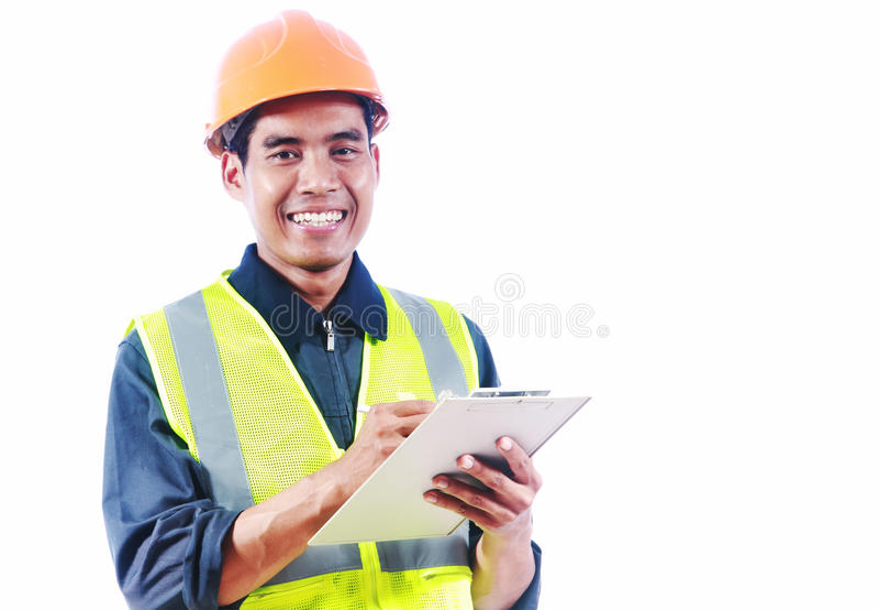 Asian man engineer stock photo