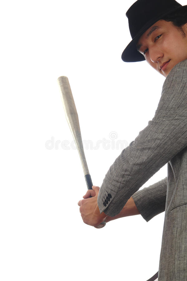 Download Asian Man In Hat With Baseball Stock Photo - Image: 13722678
