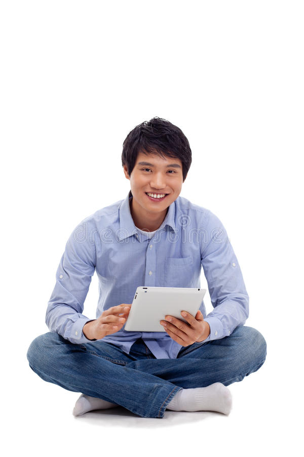 Download Asian Man Holding Tablet Computer Stock Image - Image: 29025005