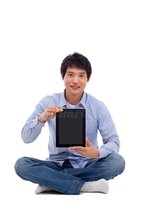Download Asian Man Holding Tablet Computer Stock Photo - Image: 29025032