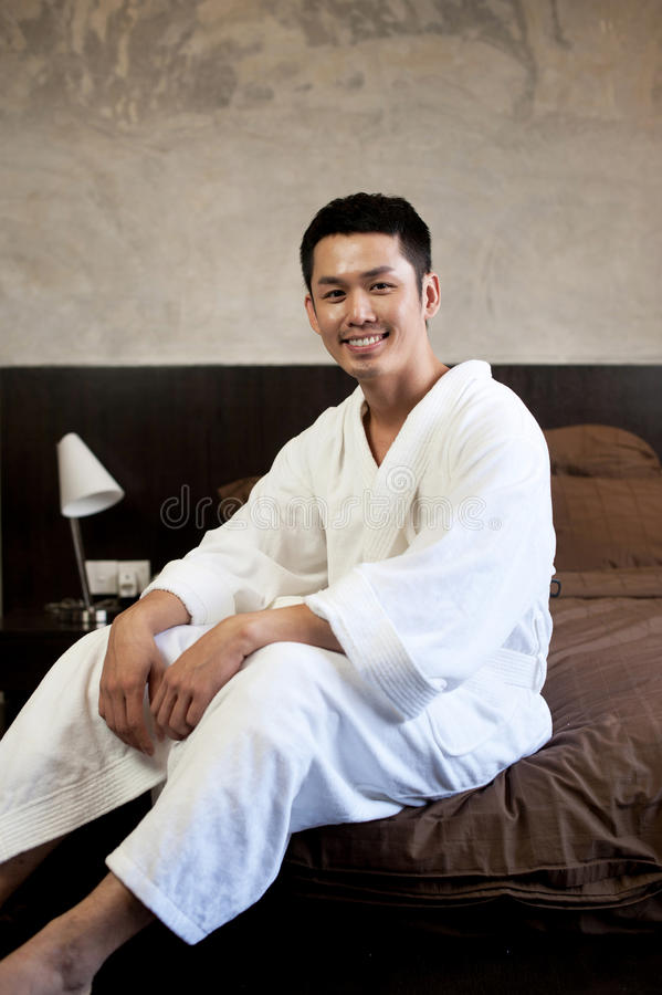 Download Asian Man Lifestyle stock photo. Image of grinning, shower - 23620944