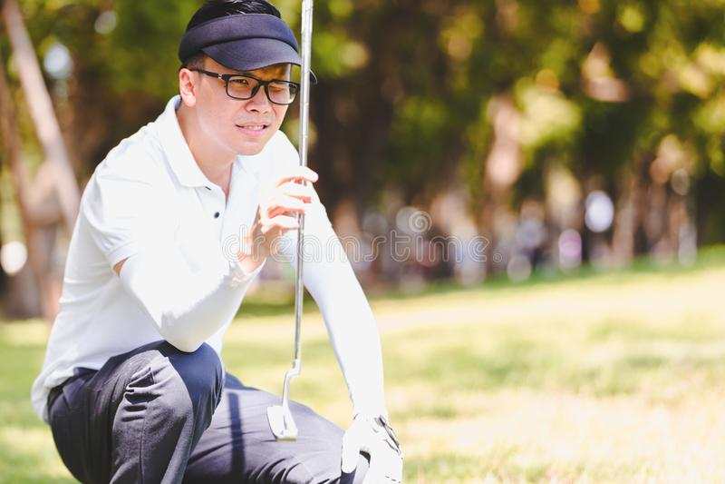 Men playing golf royalty free stock images