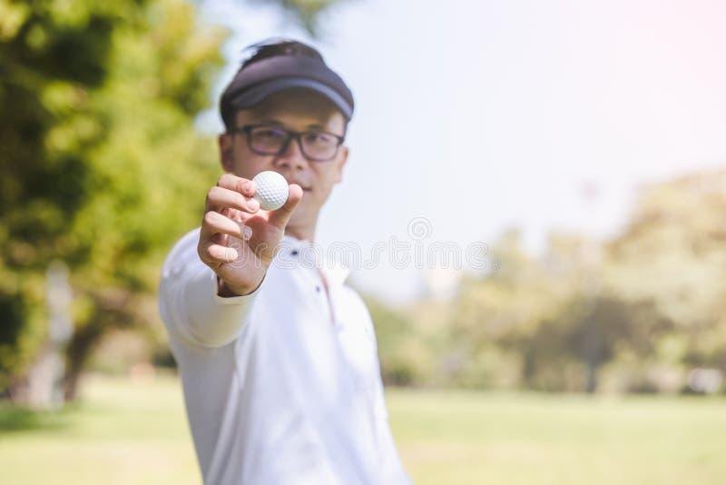 Men playing golf stock image
