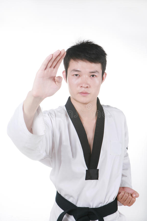 Download Asian Man Is Playing With Taekwondo Stock Photo - Image: 14158698
