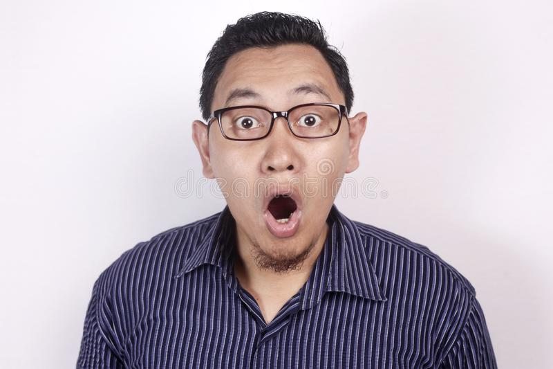 Asian Man Shocked with Mouth Open royalty free stock photo