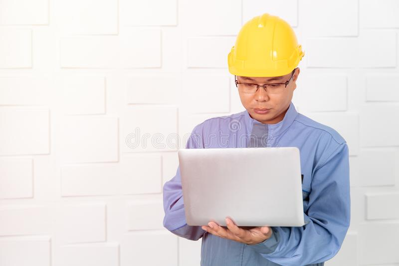 Asian man working stock images