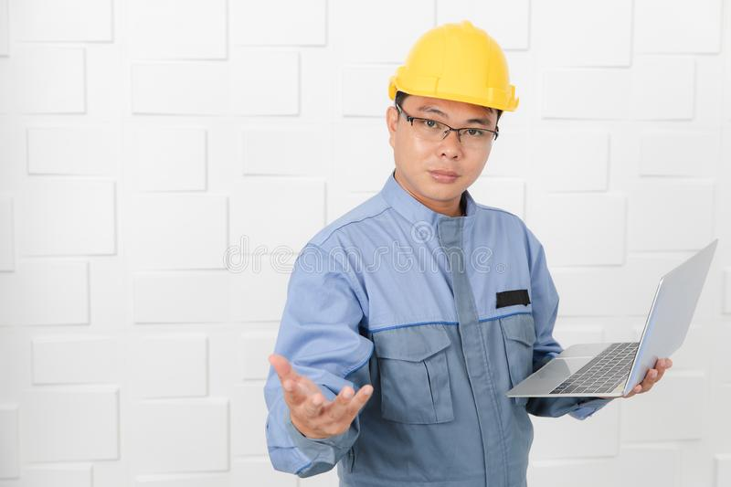 Asian man working royalty free stock images