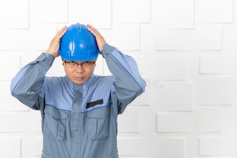 Asian man working stock photography