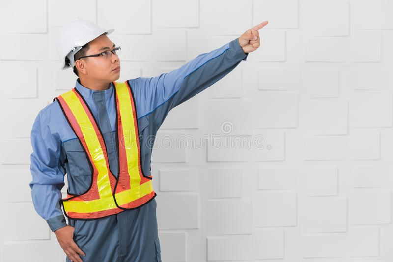Asian man working stock photography