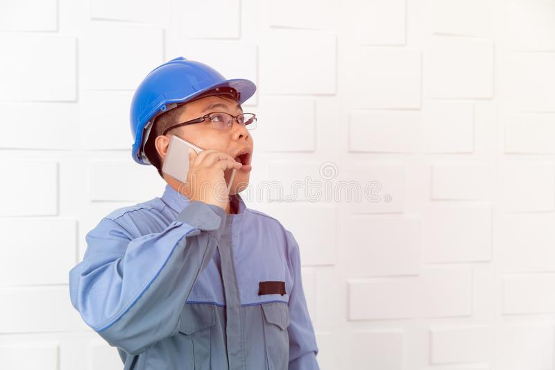 Asian man working royalty free stock photography