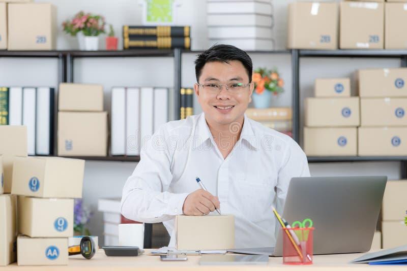 Asian man working stock image