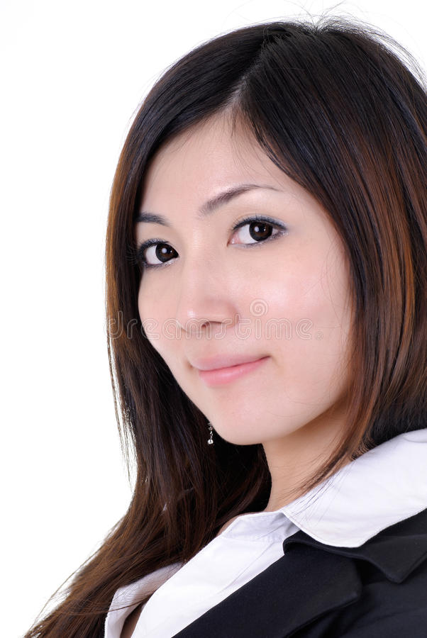 Asian manager. Confident young Asian manager, closeup portrait of business woman stock image