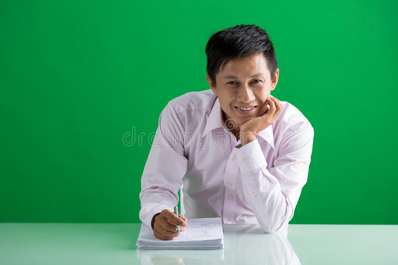 Asian manager royalty free stock photo